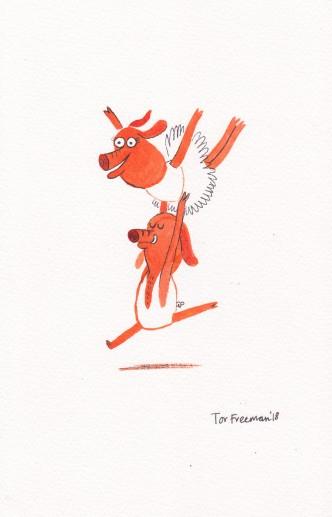 Tor Freeman dancing piggy
